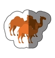 camels animal cartoon silhouette concept vector image