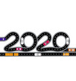 2020 new year the road is stylized vector image vector image