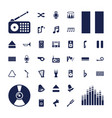 37 sound icons vector image vector image