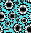 abstract monochrome floral seamless pattern vector image vector image