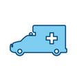 ambulance emergency vehicle vector image vector image