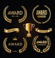 award golden retro banner on black background vector image