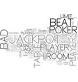bad beat text word cloud concept vector image vector image