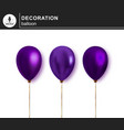 balloon set of decorative festive balloon vector image vector image