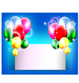 balloons decoration for you design with blank sign vector image