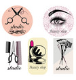 beauty symbols vector image