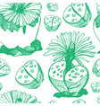 botanical green background vector image vector image