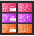 Business Cards with Floral Theme vector image