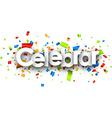 Celebrate paper banner vector image vector image