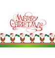 Christmas card with cute Santas vector image vector image