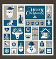 Christmas set of icons vector image