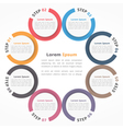 Circle Diagram Eight Elements vector image vector image
