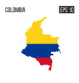 columbia map border with flag eps10 vector image vector image