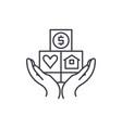 consumer insurance line icon concept consumer vector image vector image