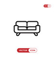 couch icon sofa furniture symbol vector image vector image