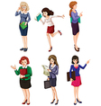 Different businesswomen vector image vector image