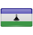 Flags Lesothe in the form of a magnet on vector image vector image