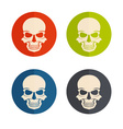 flat design icons with skulls vector image vector image