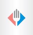 fork icon restorant catering symbol vector image vector image