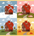 four seasons - set flat design style concepts vector image