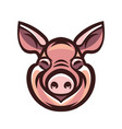 funny smiling pink pig vector image vector image