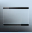 futuristic tablet device with a transparent screen vector image vector image