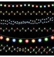 Glowing Christmas garlands background vector image vector image