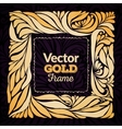 Gold ornament frame vector image