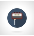 Guitar tuner flat round icon vector image vector image