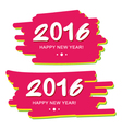 Happy New Year 2016 on colorful background vector image vector image