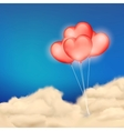 Heart Balloon in Cloudscape vector image vector image