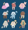 infants bachild clothes vector image