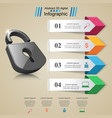 infographic lock icon vector image