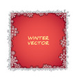 isolated foto frame with snowflakes and shadow vector image vector image