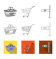 isolated object of food and drink icon set of vector image vector image