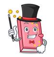 magician diary mascot cartoon style vector image vector image