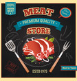Meat Store Poster vector image vector image