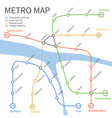 Metro subway train map urban