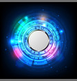 modern button and technology background design vector image vector image
