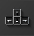 modern keyboard arrows button background vector image vector image