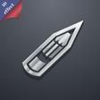 Pencil icon symbol 3D style Trendy modern design vector image vector image