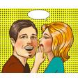 pop art of happy couple vector image vector image