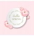 postcard pink flowers vector image vector image