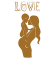 Pregnant mother with baby Lovely design vector image vector image