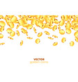 realistic 3d golden coins explosion vector image vector image