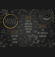 restaurant coffee menu design with chalkboard vector image
