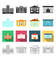 salon architecture industry and other web icon vector image