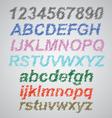 Scribble Font vector image