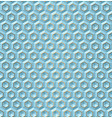 seamless blue volume 3d background geometric vector image vector image