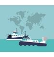 ship or boat emblem image vector image vector image